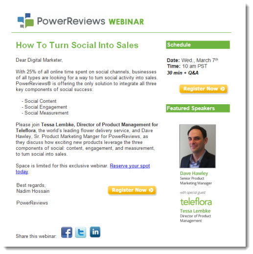 webinar invitations sell the event not the product the point