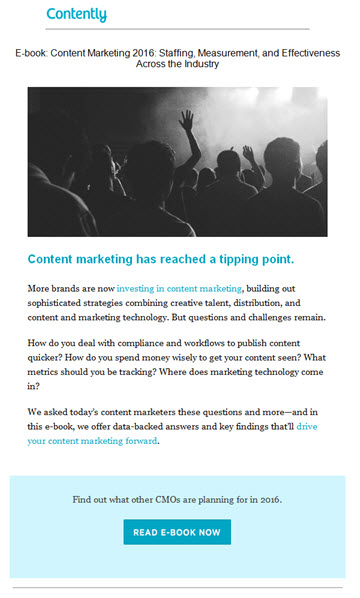 promote marketing content